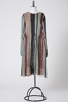Multi Colored Striped Dress by Rohit Gandhi & Rahul Khanna-POPULAR PRODUCTS AT STORE