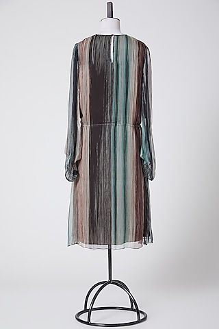 Multi Colored Striped Dress by Rohit Gandhi & Rahul Khanna