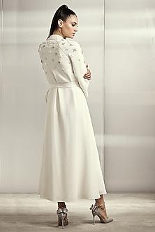 Off White Mesh Dress by Rohit Gandhi & Rahul Khanna