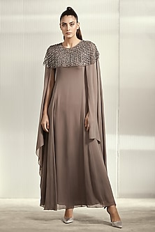 Ebony Shimmery Textured Dress by Rohit Gandhi & Rahul Khanna