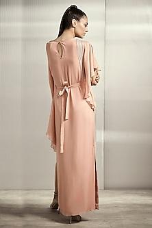 Light Rose Pink Textured Dress by Rohit Gandhi & Rahul Khanna