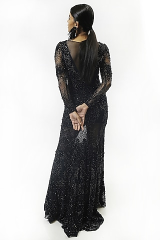 Sapphire Blue Embellished Gown by Rohit Gandhi & Rahul Khanna