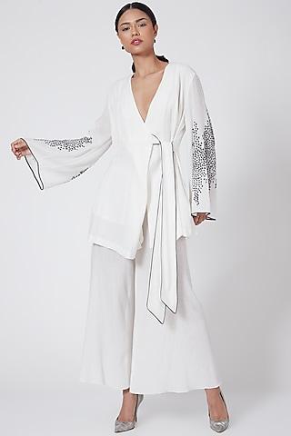 White Embellished Jacket by Rohit Gandhi & Rahul Khanna