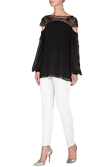 Black Embellished Top by Rohit Gandhi & Rahul Khanna