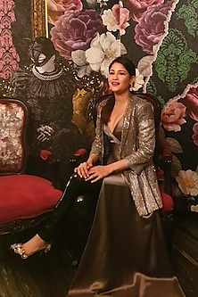 Silver Sequins Embroidered Jacket by Rohit Gandhi & Rahul Khanna