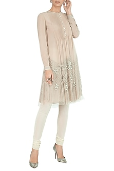 Baby Pink Embroidered Kurta With Pants by Rohit Gandhi & Rahul Khanna