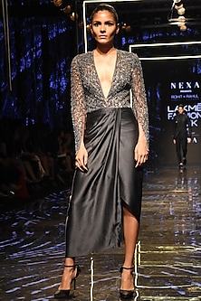 Galactic Textured Dress by Rohit Gandhi & Rahul Khanna