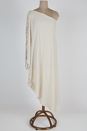 Seashell One Shoulder Dress by Rohit Gandhi & Rahul Khanna