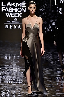 Asymmetric Chrome Top by Rohit Gandhi & Rahul Khanna