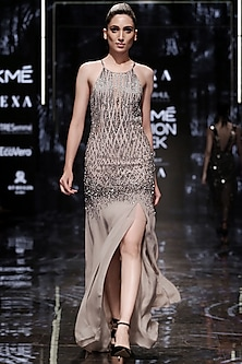 Ecliptic Halter Dress by Rohit Gandhi & Rahul Khanna