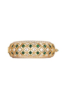 Gold Plated Enamel Work Kada by Rhmmya