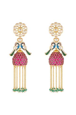Gold Plated Cubic Zirconia Earrings by Rhmmya