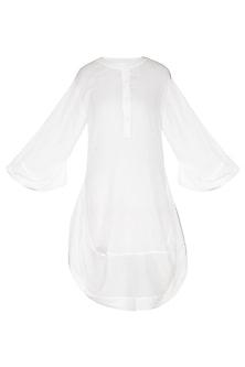 White Cotton Tunic by Ritesh Kumar