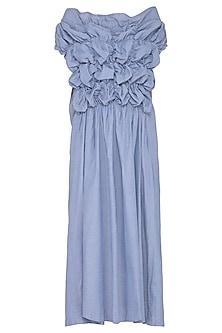 Sky Blue Textured Dress by Ritesh Kumar