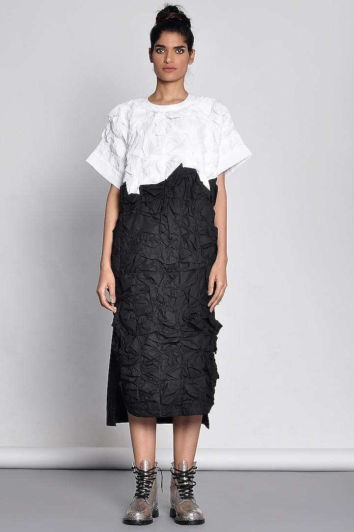 White Dress With Origami Texture by Ritesh Kumar