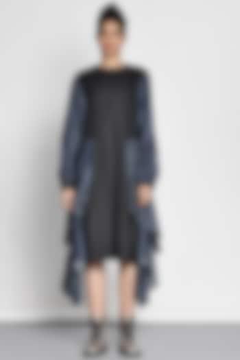 Cobalt Blue Color Blocked Dress by Ritesh Kumar