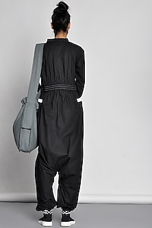 Black Jumpsuit With Origami by Ritesh Kumar