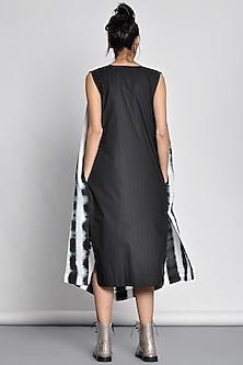 Black Tie & Dye Draped Dress by Ritesh Kumar