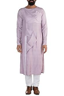 Purple Overlapped Kurta by Rishi & Vibhuti Men