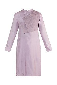 Purple Linen Cotton Kurta by Rishi & Vibhuti Men