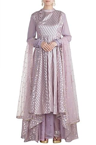 Lavender Mastani Anarkali Set by Rishi & Vibhuti