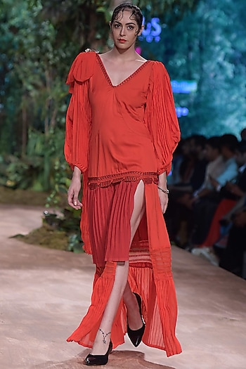 Red Maxi Dress by RINA DHAKA