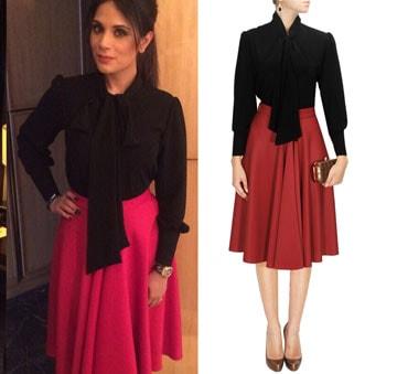 Black bow-tie blouse top by Neha Taneja