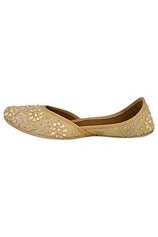 Golden Sequins Embellished Juttis by RISA