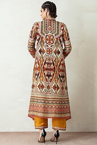 Brown Flared Tunic Set  by Rajdeep Ranawat