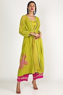 Green Embroidered Kurta Set by Raji ramniq-POPULAR PRODUCTS AT STORE