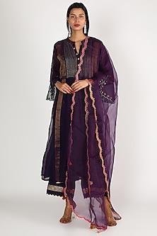 Purple Embroidered Kurta Set by Raji ramniq-POPULAR PRODUCTS AT STORE