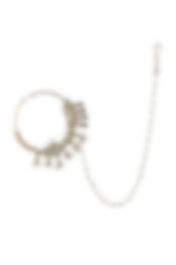 Gold Plated Beaded Nath by Riana Jewellery