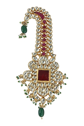 Gold Plated Pearl And Beaded Kilangi by Riana Jewellery