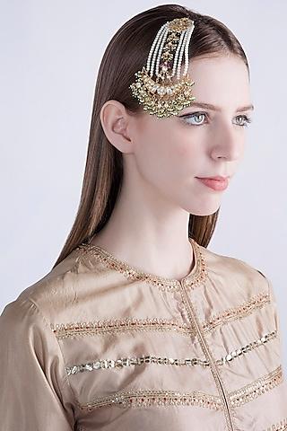 Gold Plated Jadtar Stone Passa by Riana Jewellery