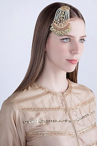 Gold Plated Pearl & Bead Passa by Riana Jewellery
