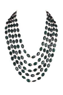 Emerald & Pearl Mala Necklace by Riana Jewellery