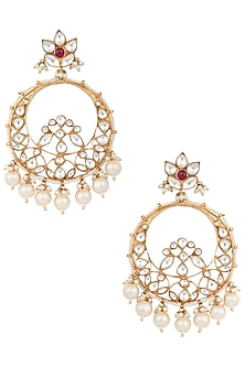 Gold Plated Chandbali Earrings by Riana Jewellery-POPULAR PRODUCTS AT STORE