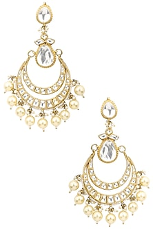 Gold Plated Chand Baali Earrings by Riana Jewellery