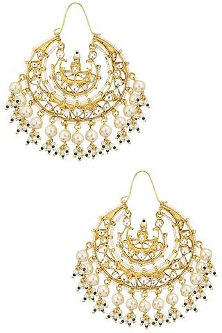Gold Plated Baali Earrings by Riana Jewellery