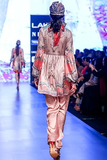 Blush Pink Boho Tunic by Rajdeep Ranawat