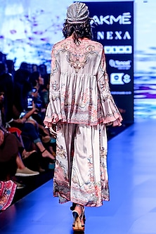 Blush Pink Printed Boho Tunic by Rajdeep Ranawat