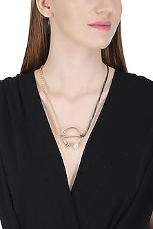 Rose Gold Circular Flex Necklace by Rejuvenate Jewels
