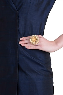 Gold plated south style ring by RIANA JEWELLERY