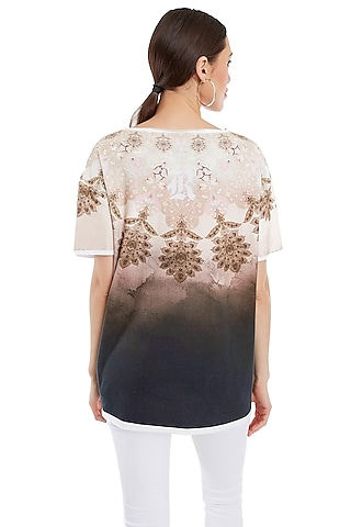 Multi Colored Printed T-Shirt by Rocky Star