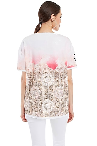 Multi Colored Printed Cotton T-Shirt by Rocky Star