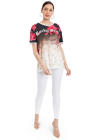 Multi Colored Digitally Printed T-Shirt by Rocky Star