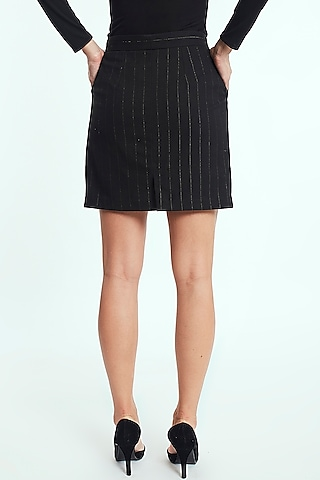 Gold & Black Pleated Skirt by Rocky Star