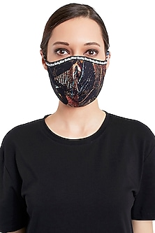 Multi Colored Reusable 3 Ply Printed Mask With Pouch by Rocky Star