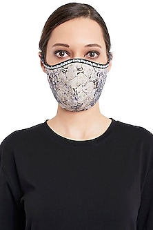 Multi Colored Reusable 3 Ply Digital Printed Mask With Pouch by Rocky Star