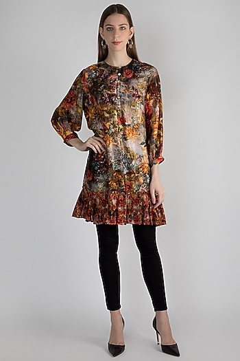 Multi Colored Digital Printed Tunic by Rocky Star